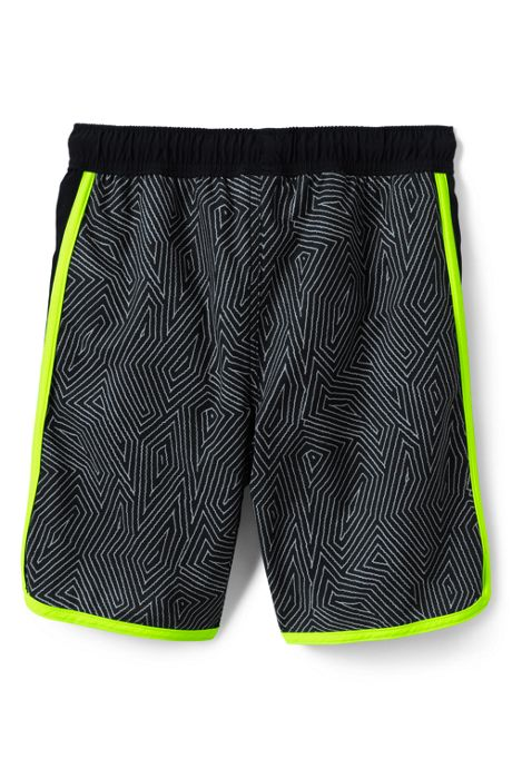 Little Boys Pattern Active Stretch Swim Trunks
