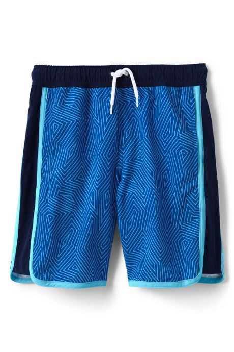 Boys Pattern Active Stretch Swim Trunks