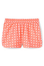 Little Girls Pattern Woven Pull On Shorts