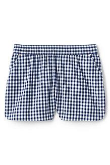 Gemusterte Baumwoll-Shorts mit Schlüpfbund für Mädchen