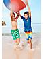 Badeshorts mit Colorblock-Print für kleine Jungen