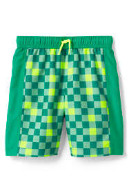 Boys Print Blocked Swim Trunks