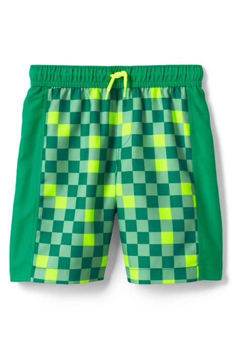 Little Boys Print Blocked Swim Trunks