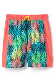 Toddler Boys Print Blocked Swim Trunks