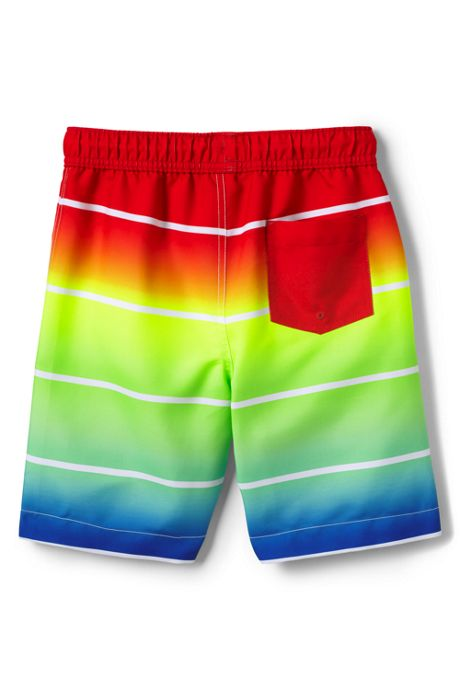 Little Boys Print Swim Trunks