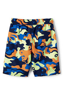 Toddler Boys Print Swim Trunks, Back