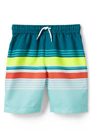 Boys Slim Print Swim Trunks