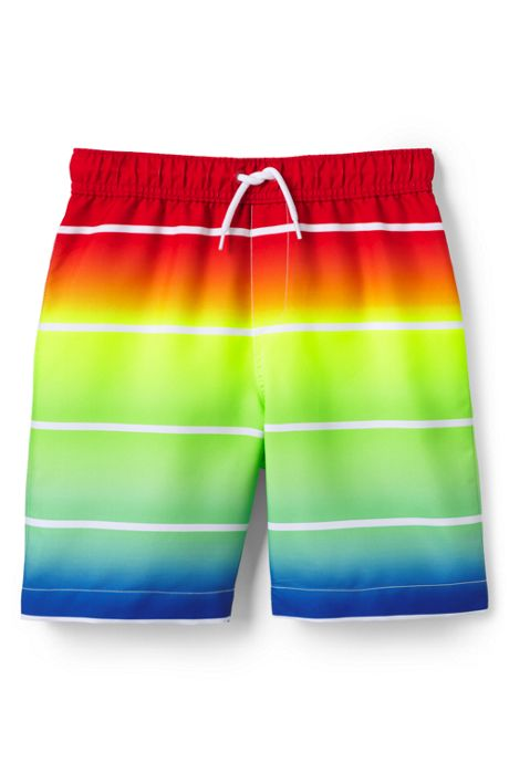 Boys Husky Print Swim Trunks