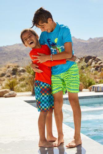 Little Boys Print Swim Trunks