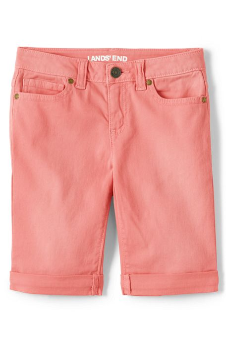 Girls Plus Denim Bermuda Jean Shorts