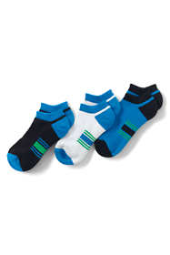 Boys Solid No-show Athletic Socks (3-pack)