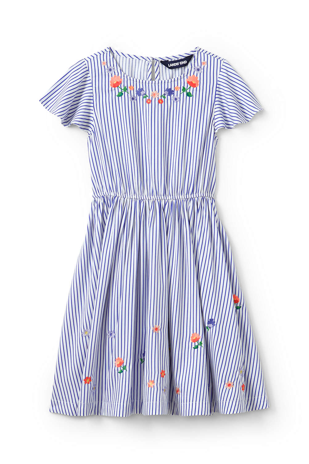 4d98499b00fc Toddler Girls Embroidered Twirl Dress from Lands  End