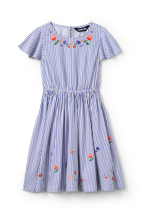 Girls Plus Embroidered Twirl Dress