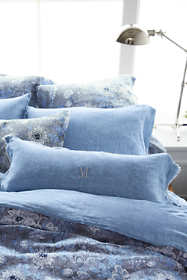 Chambray Linen Raw Edge Dec Pillow