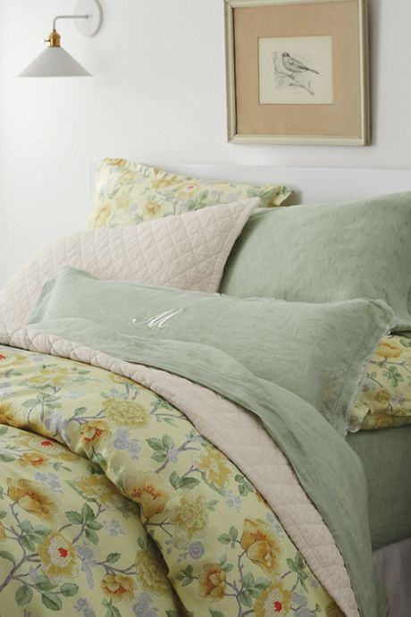 Chambray Linen Raw Edge Dec Pillow