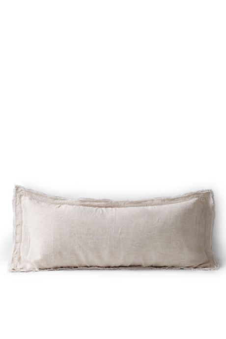 Chambray Linen Raw Edge Decorative Pillow