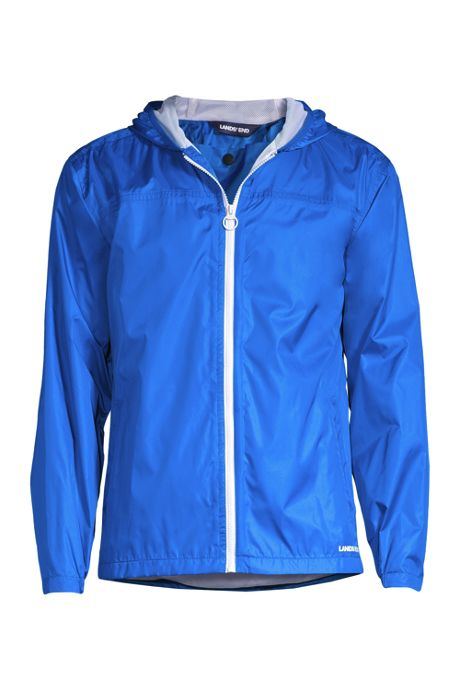 Men's Tall Waterproof Windbreaker Jacket