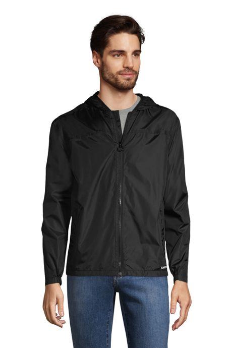 Men's Big and Tall Waterproof Windbreaker Jacket