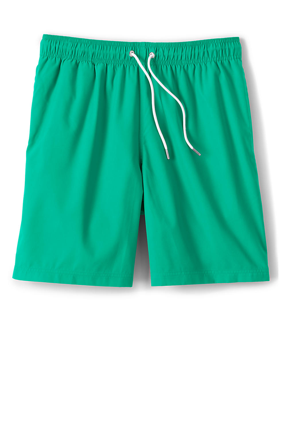 Lands End Mens 8 Inch Solid Volley Swim Trunks