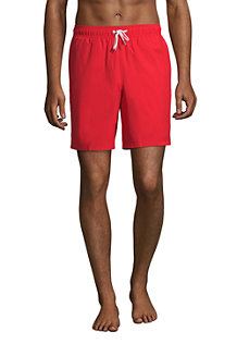 Short de Bain Mi-Long Uni, Homme