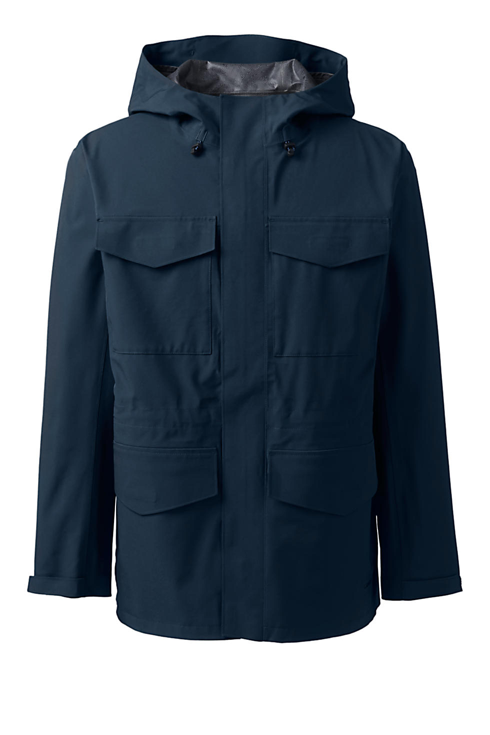 Lands End Mens Waterproof Rain Parka (Radiant Navy)