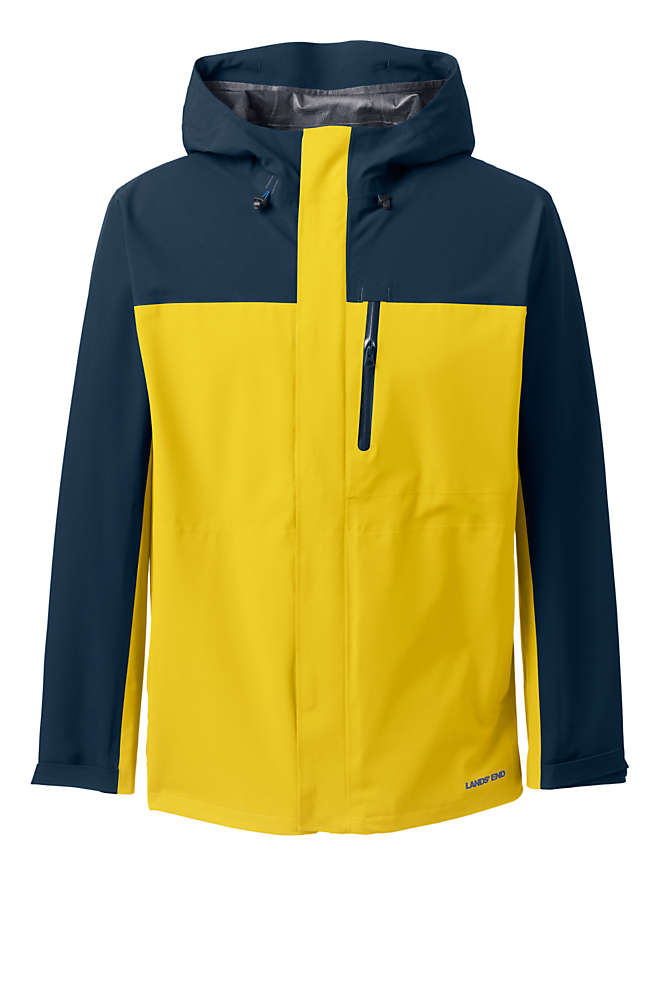 Men's Tall Waterproof Rain Jacket, Front