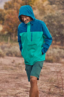 Men's Tall Waterproof Rain Jacket, Unknown