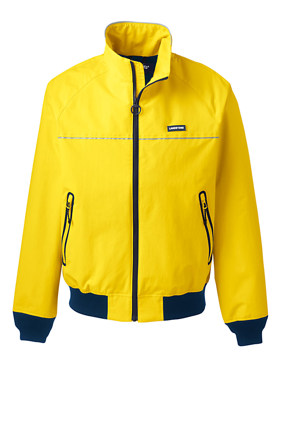 Lands End Mens Lightweight Classic Squall Jacket (Bright Sunshine)
