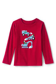 Little Boys Textured Graphic Tee Shirt