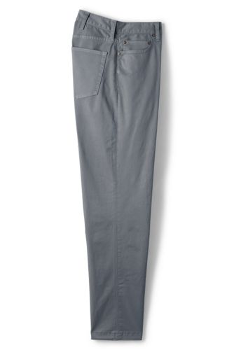 Pantalon Chino Stretch en Twill Uni, Homme Stature Standard