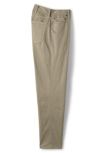 Pantalon Chino Stretch en Twill Uni, Homme Stature Standard