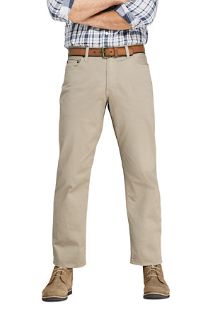 37c3d933 Men's Garment-dyed Stretch Twill Jeans | Lands' End