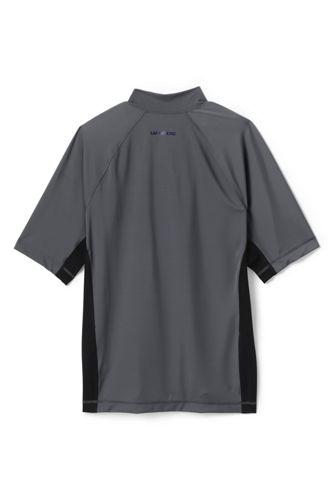 Men's Short Sleeve Quarter Zip Swim Tee Rash Guard