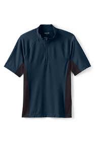 Men's Short Sleeve Quarter Zip Swim Tee Rash Guard