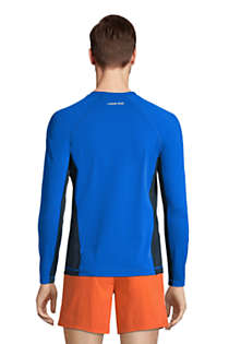 Men's Long Sleeve Swim Tee Rash Guard, Back