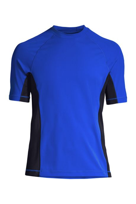 Men's Big and Tall Short Sleeve Swim Tee Rash Guard