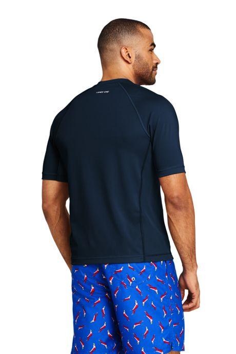 Men's Tall Short Sleeve Swim Tee Rash Guard