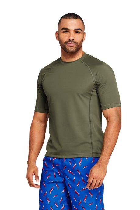 Men's Short Sleeve Swim Tee Rash Guard