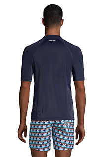 Men's Short Sleeve Swim Tee Rash Guard, Back