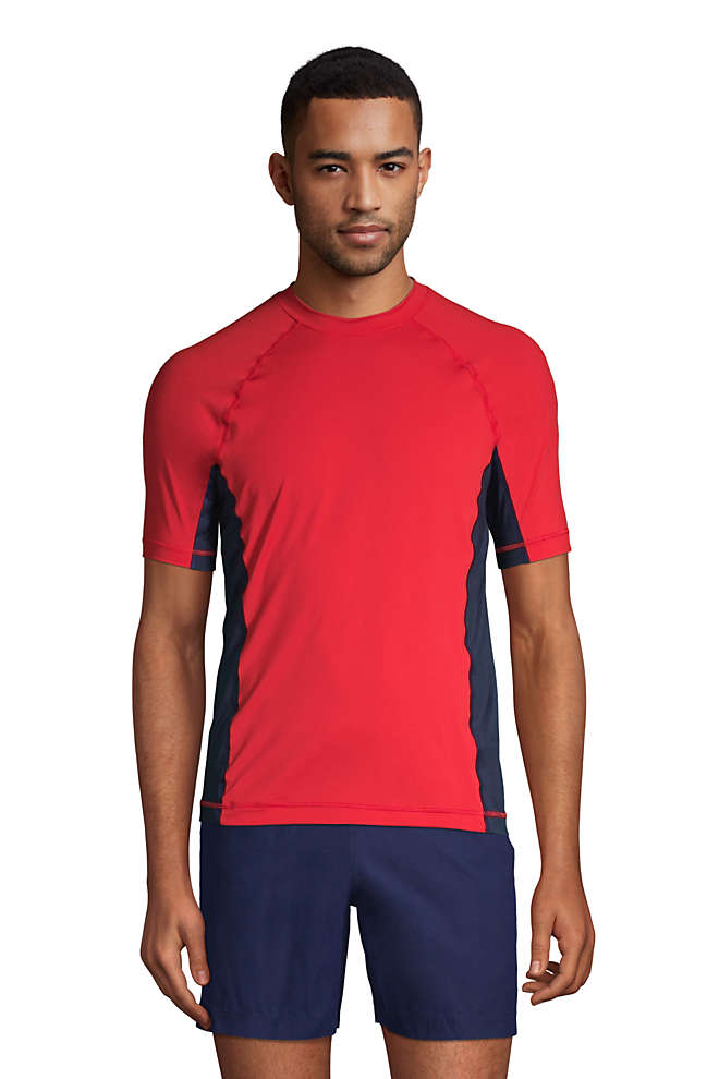Men's Short Sleeve Swim Tee Rash Guard, Front
