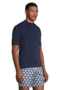 Men's Short Sleeve Swim Tee Rash Guard, alternative image