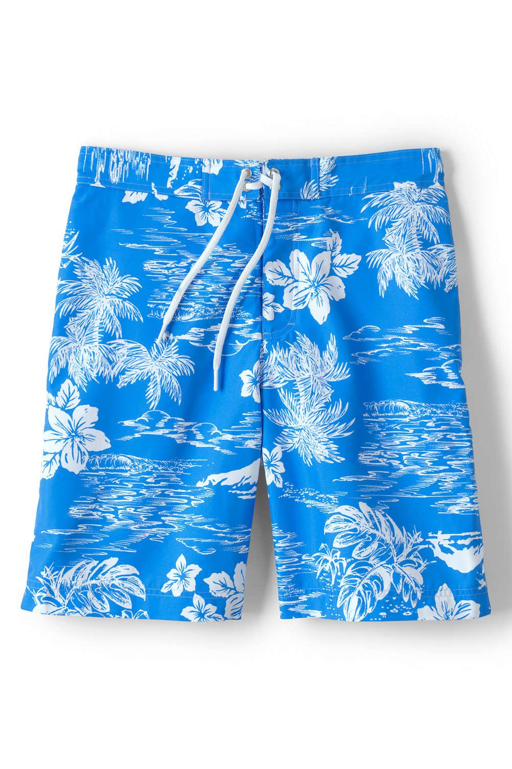24a5e22f32 Men's Print Board Short Swim Trunks from Lands' End