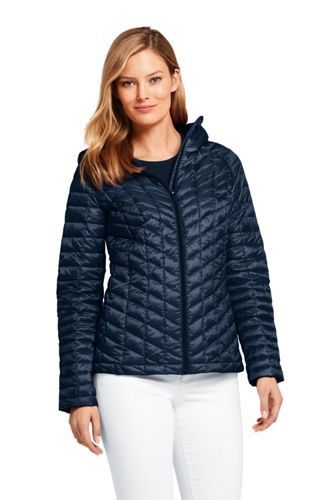 Veste Thermoplume Compressible à Capuche, Femme Stature Standard