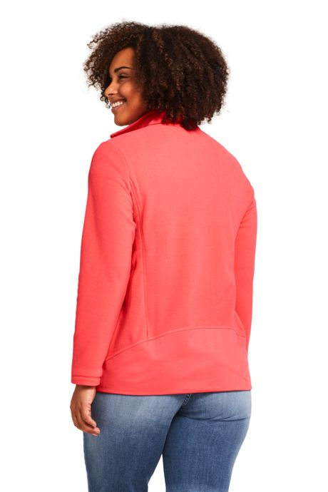 Women's Plus Size Lightweight Fleece Jacket
