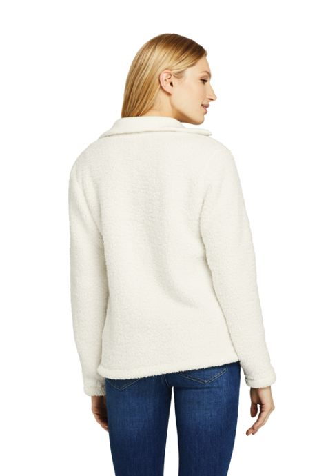 Women's Cozy Sherpa Fleece Quarter Zip Pullover Top