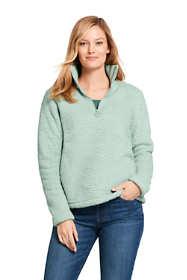 Women's Cozy Sherpa Fleece Quarter Zip Pullover