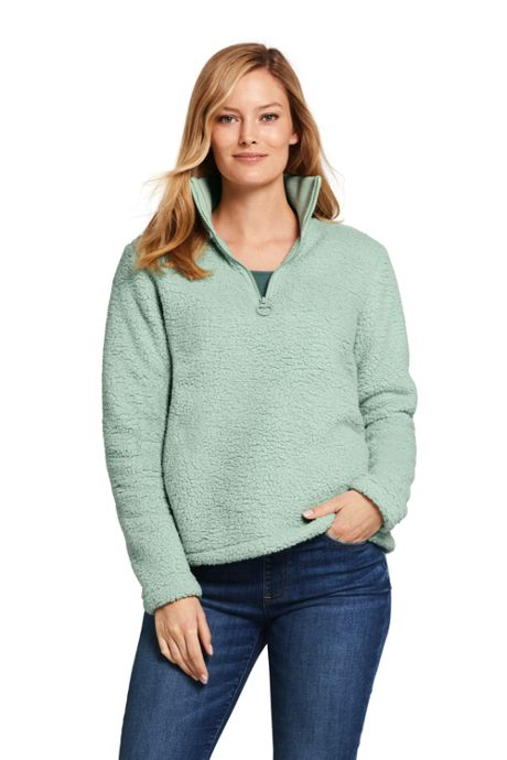 Women's Cozy Sherpa Fleece Quarter Zip Pullover