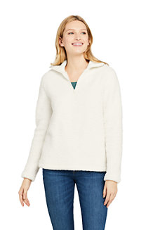 Zipper-Pullover aus Teddyfleece für Damen