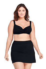 Women's Plus Size DD-Cup Twist Front Underwire Bikini Top Swimsuit