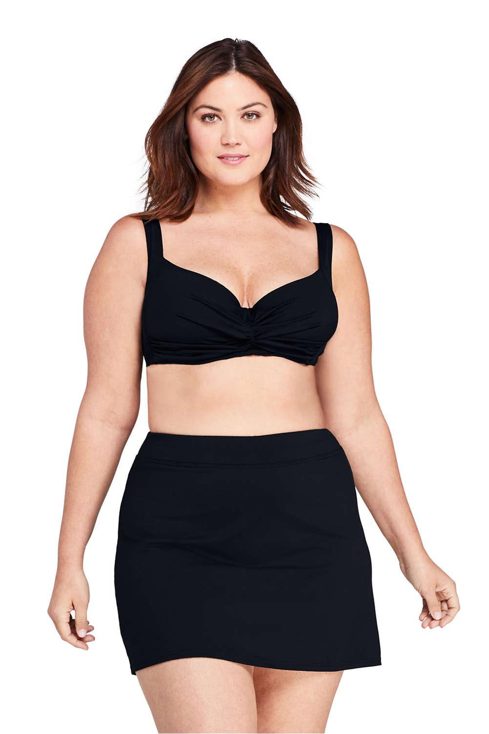 f722a115583 Women's Plus Size Twist Front Underwire Bikini Top Swimsuit from Lands' End